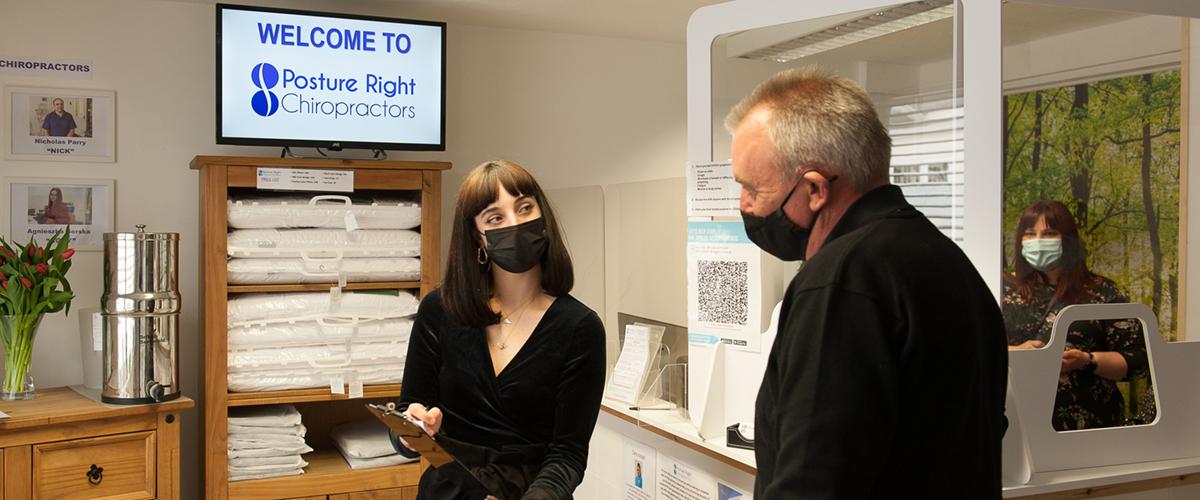 Posture Right Chiropractors Reception